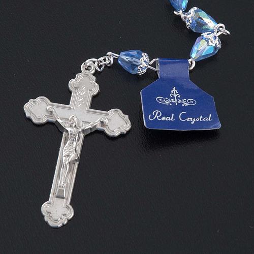 Chapelet en perles cristal goute bleue 5