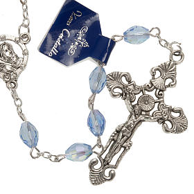 Rosary beads in crystal, with blue drops s1