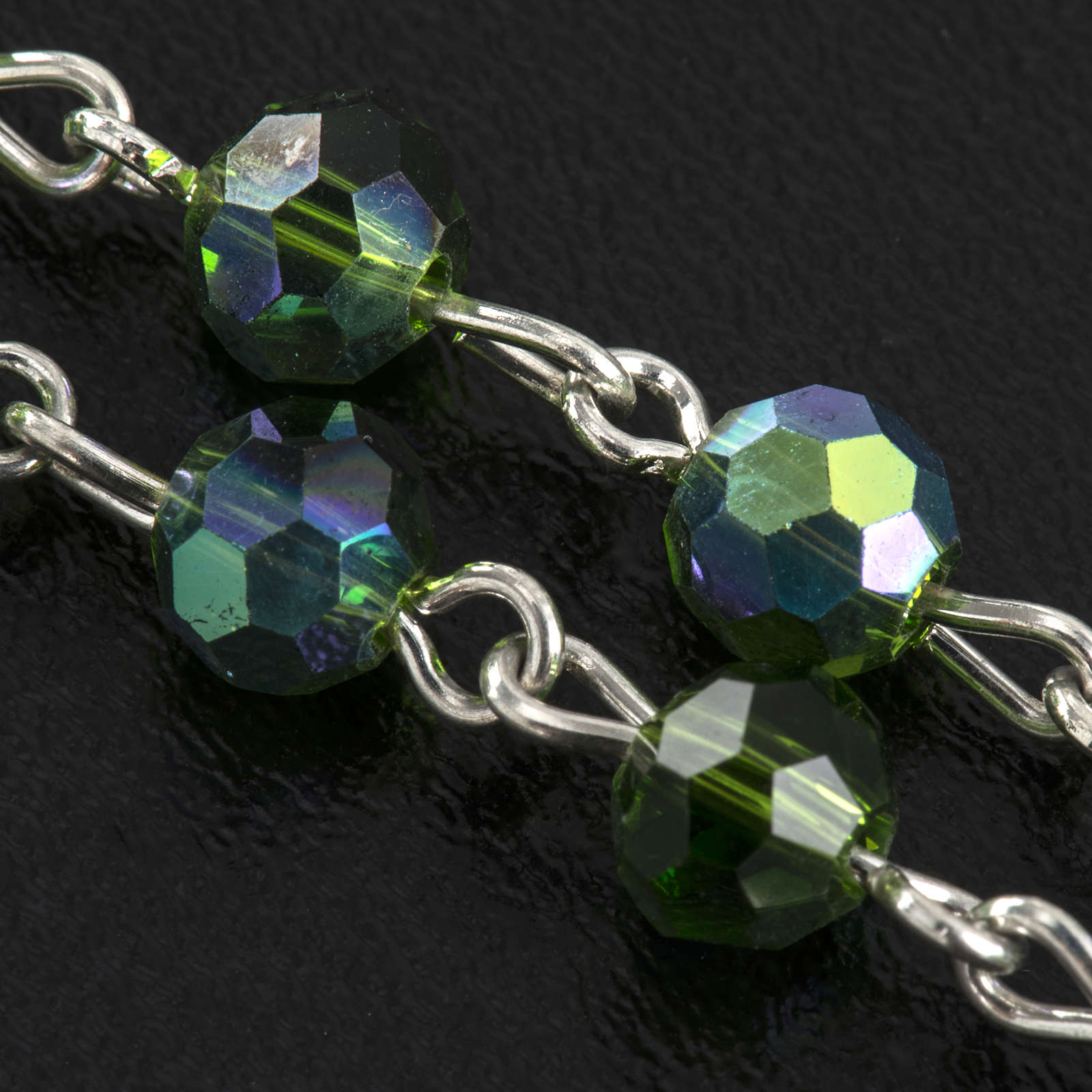 Rosario cristallo verde 6 mm 4