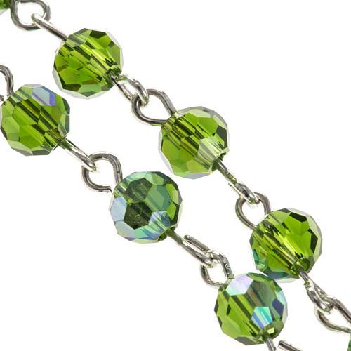 Rosario cristallo verde 6 mm 2