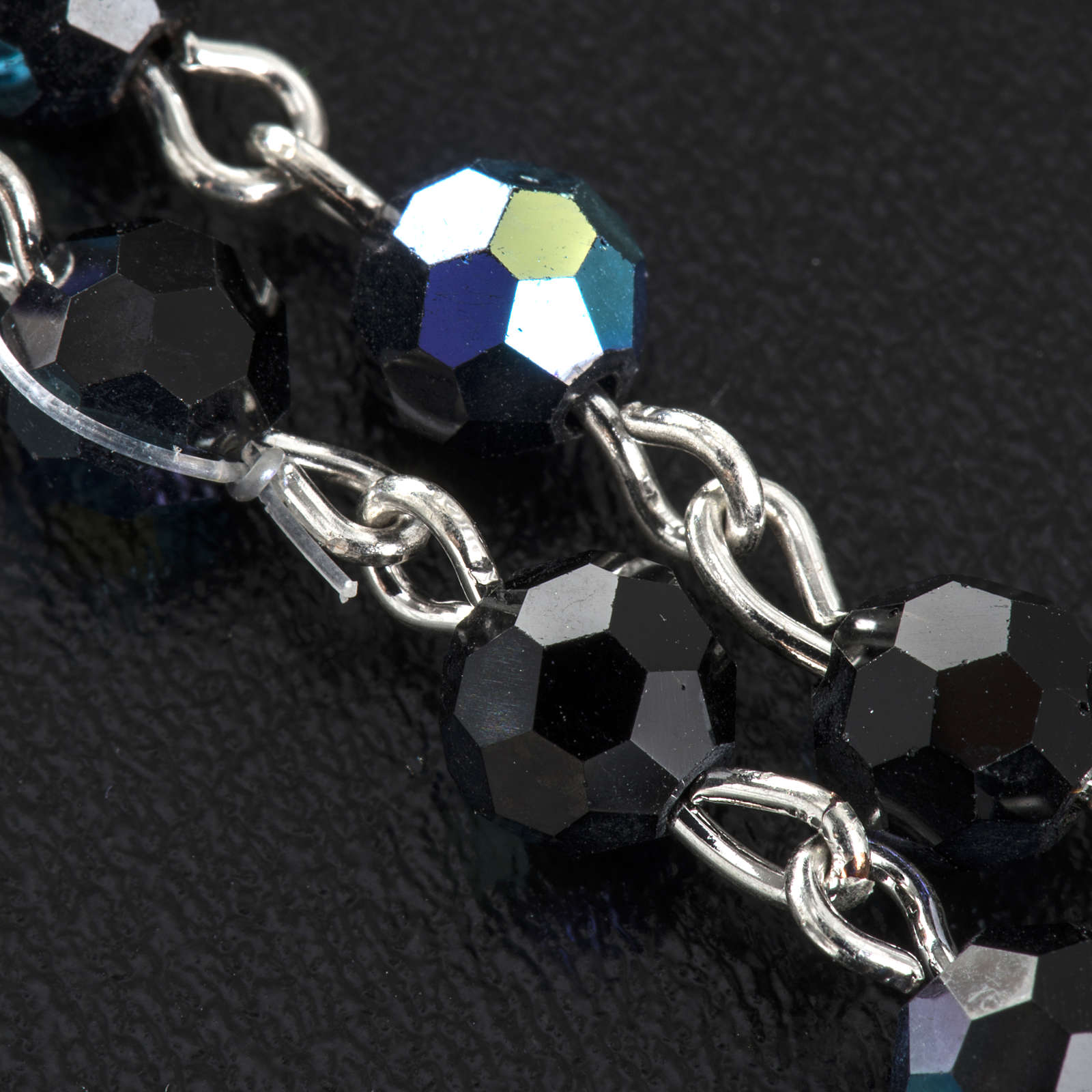 Chapelet cristal noir 6 mm 4