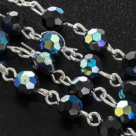 Chapelet cristal noir 6 mm s6