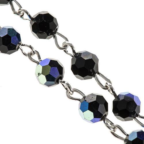 Chapelet cristal noir 6 mm 2