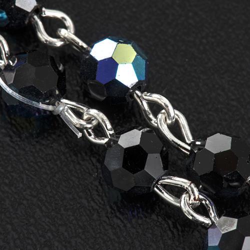 Chapelet cristal noir 6 mm 5