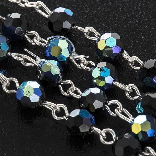 Chapelet cristal noir 6 mm 6