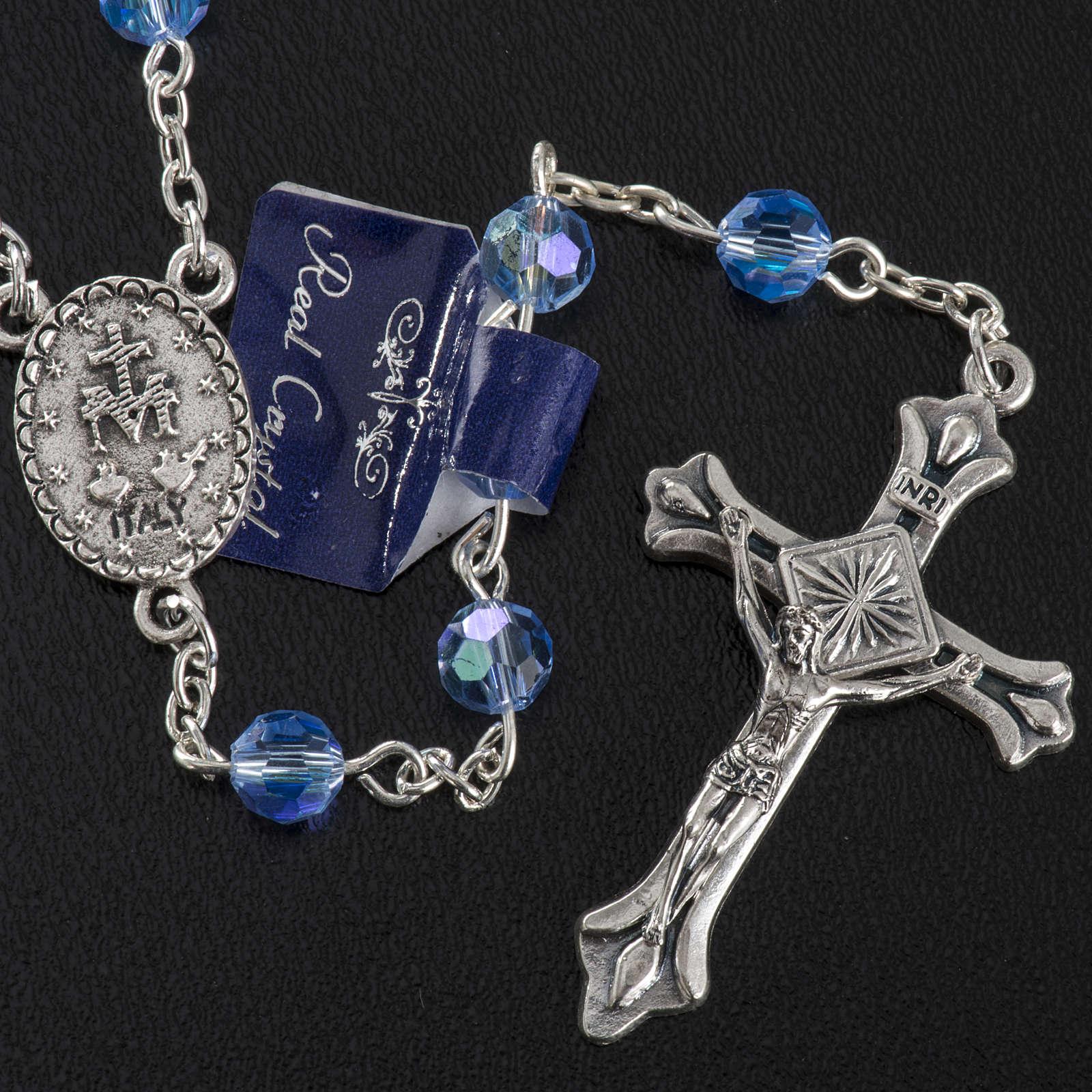 Chapelet cristal bleu ciel 6 mm 4