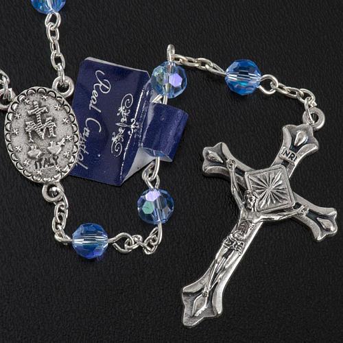 Chapelet cristal bleu ciel 6 mm 3