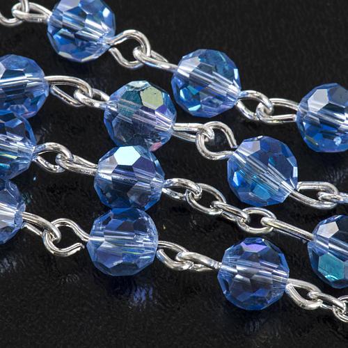 Rosario cristallo azzurro 6 mm 5