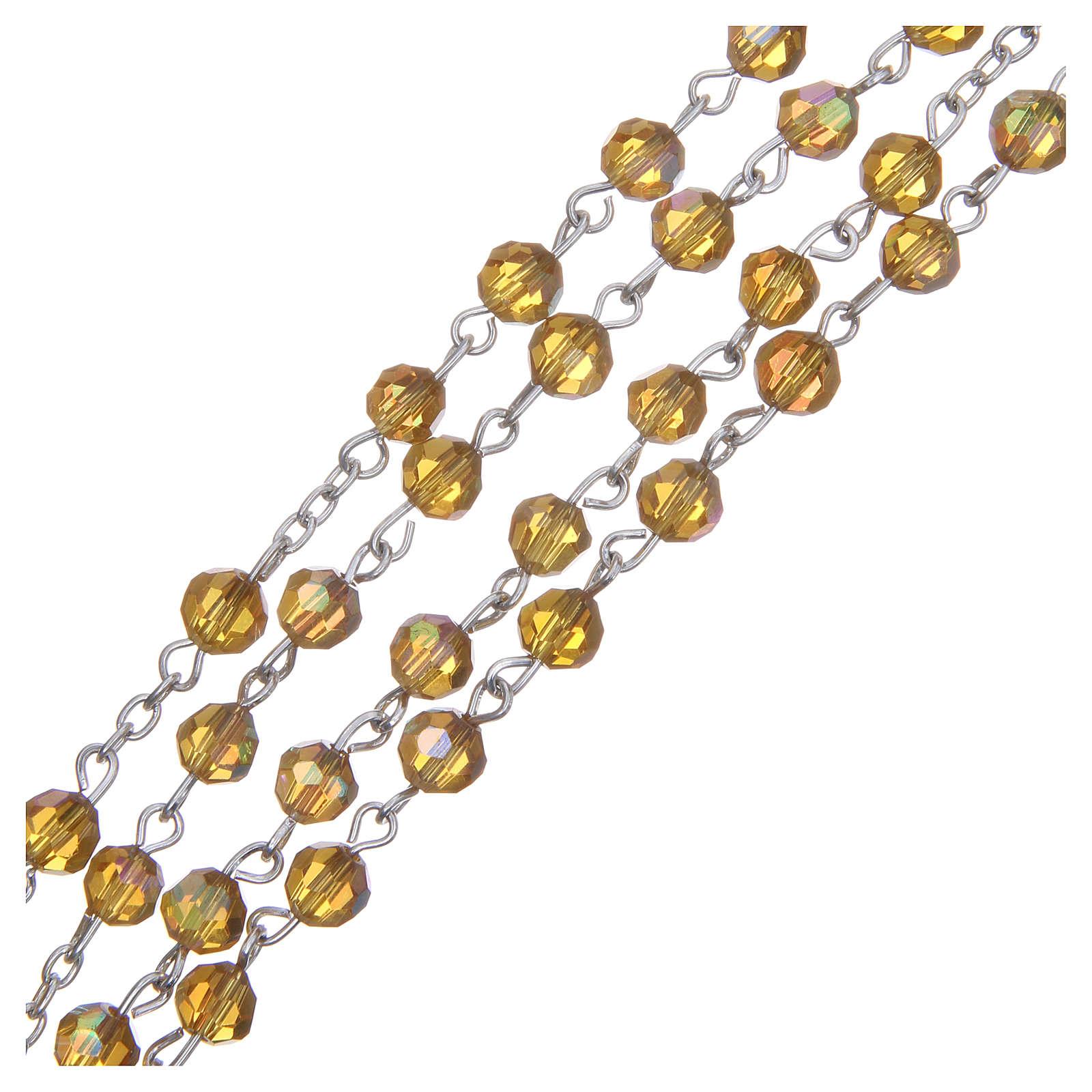 Chapelet cristal ambre 6 mm 4