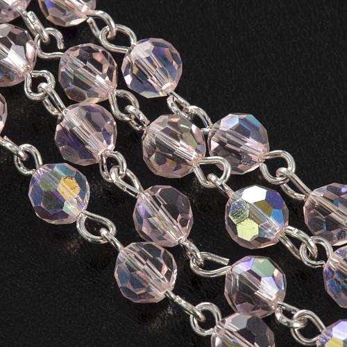 Chapelet cristal rose 6 mm 5