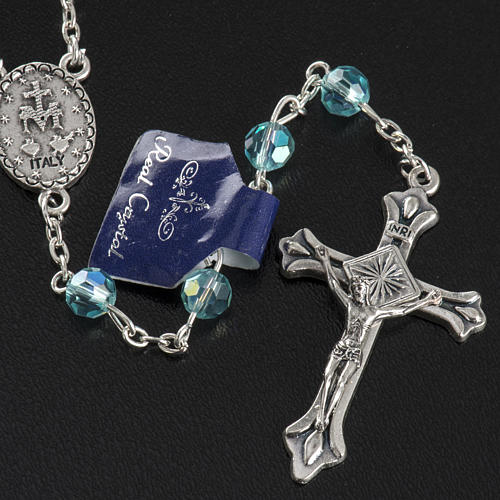 Rosary beads in crystal, 6mm, sea green 3
