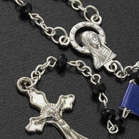 Rosary beads in crystal, 3mm, black s3