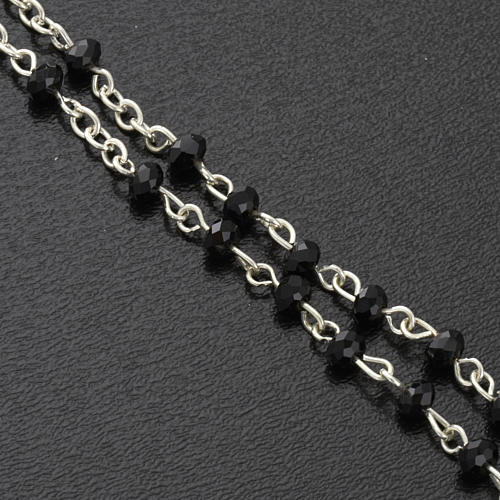 Rosary beads in crystal, 3mm, black 4