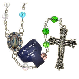 Rosary with Miraculous Medal in crystal 6mm s1