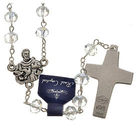 Rosary in crystal, Pope Francis 6x8mm s2