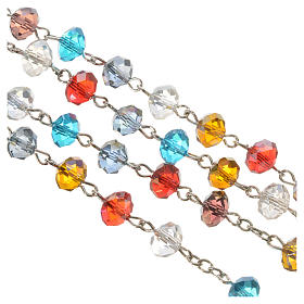 Rosary in crystal, Pope Francis and Saint Francis s3