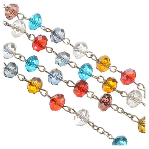 Rosary in crystal, Pope Francis and Saint Francis 3