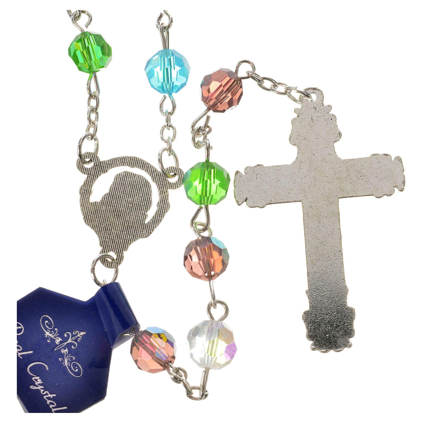 Rosenkranz Kristall Perlen 7mm Gottesmutter mit Kind 4