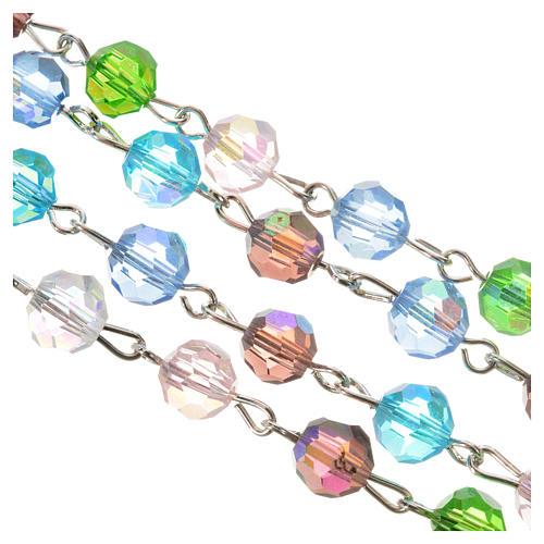 Rosenkranz Kristall Perlen 7mm Gottesmutter mit Kind 3