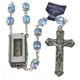 Rosary beads in crystal, 7mm Lourdes s1