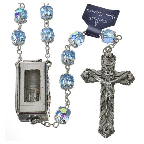Rosary beads in crystal, 7mm Lourdes 1