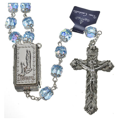 Rosary beads in crystal, 7mm Lourdes 2