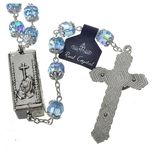 Rosary beads in crystal, 7mm Lourdes 3