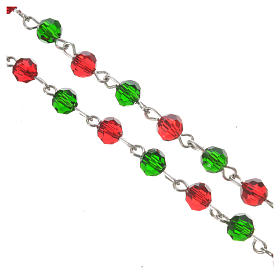 Rosary beads in crystal, 6mm Christmas s5