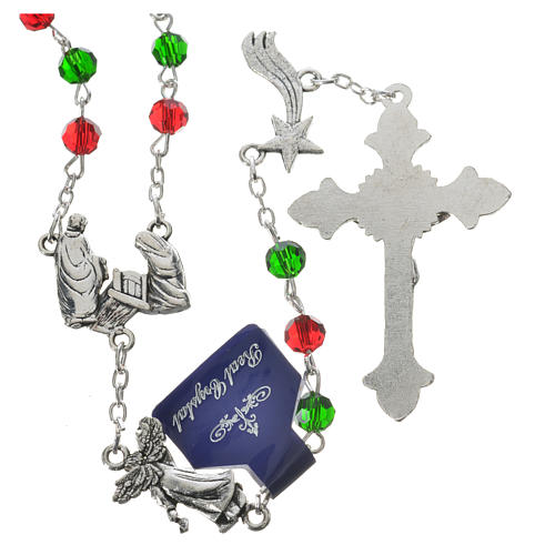Rosary beads in crystal, 6mm Christmas 2
