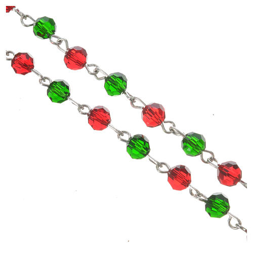 Rosary beads in crystal, 6mm Christmas 5