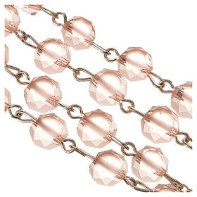 Chapelet cristal satiné 8 mm rose s4