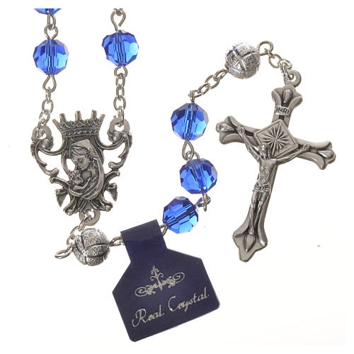 Crystal rosary, 8mm blue 1