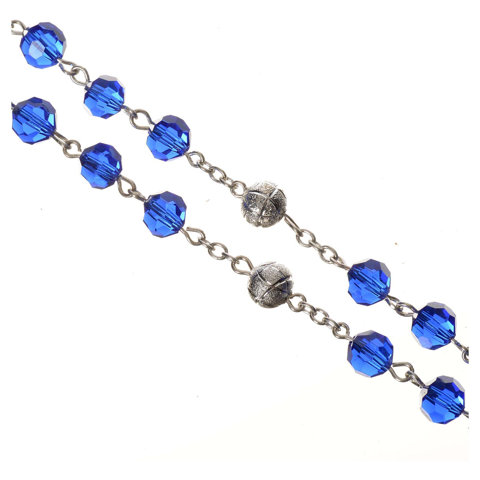 Rosario cristal 8 mm azul 4