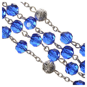 Rosario cristal 8 mm azul s4