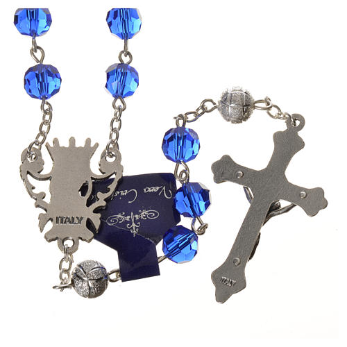 Chapelet cristal bleu 8 mm 2