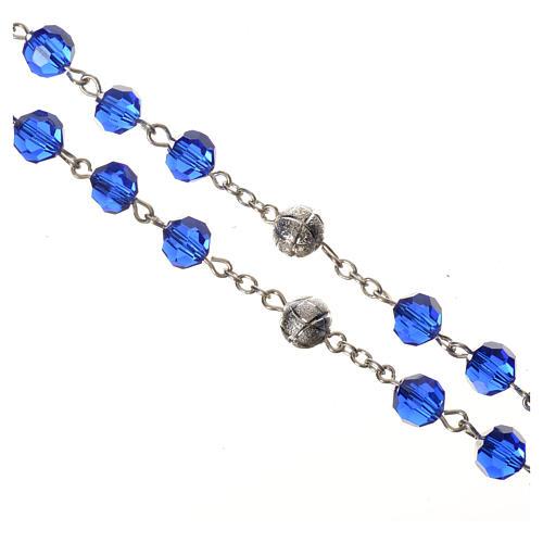 Chapelet cristal bleu 8 mm 3