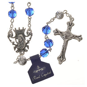 Crystal rosary, 8mm blue s1