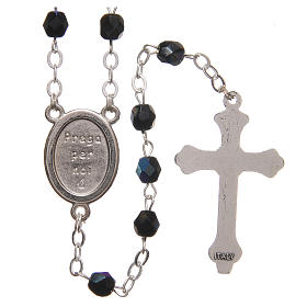 STOCK Rosary beads in iridescent crystal with Jubilee symbol 4mm black s2