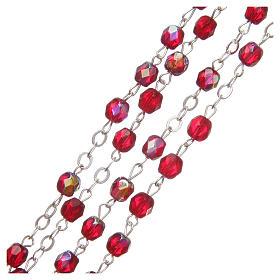 STOCK Rosario cristallo borealizzato Giubileo 4 mm rosso rubino s3
