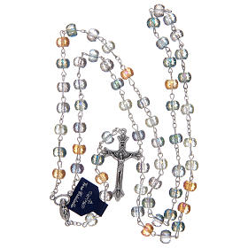 Rosary with crystal grains with shiny multicoloured cut s4