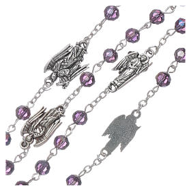Rosary beads in purple faceted crystal Archangels, 6mm s3