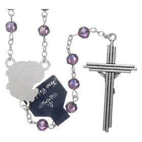 Rosary beads in purple faceted crystal Archangels, 6mm s2