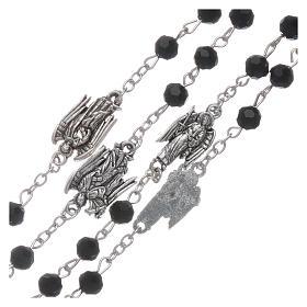 Rosario dedicado a los Arcángeles cristal negro granos 6 mm s3
