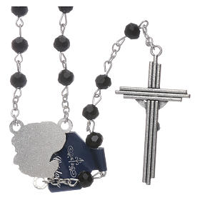 Rosary beads black crystal Archangels, 6mm s2