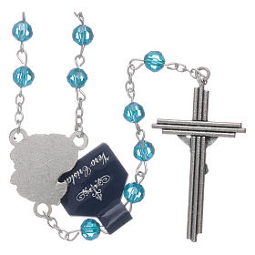 Rosary beads light blue crystal Archangels, 6mm s2