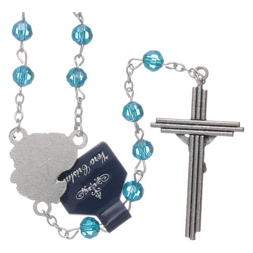 Rosary beads light blue crystal Archangels, 6mm 2