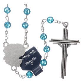 Rosario Arcangeli cristallo azzurro con grani 6 mm s2