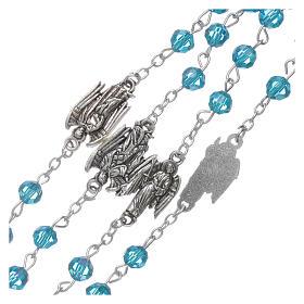 Różaniec Archaniołowie kryształ błękitny koraliki 6 mm s3