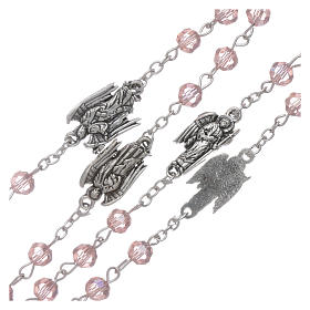 Rosary beads pink crystal Archangels, 6mm s3