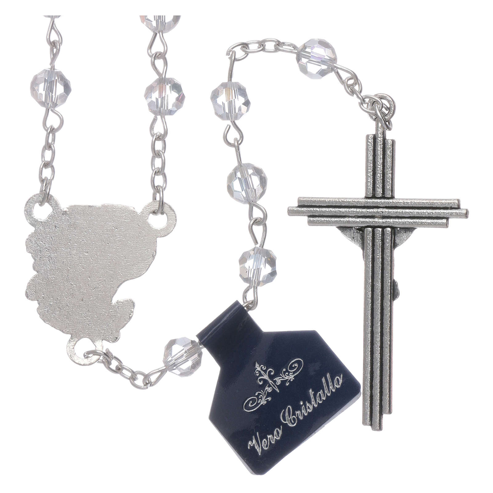 Rosary beads in transparent crystal Archangels, 6mm 4